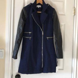 DAMAGED Calvin Klein Boucle faux leather coat